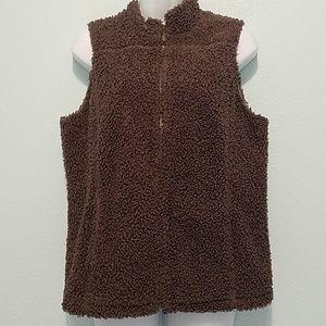 J.Jill Women's M Nubby Texture Sweater Vest Zip-Up